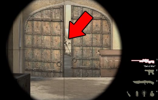 CS GO Dust 2 Double Door AWP