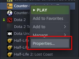CS GO Game Properties for High FPS