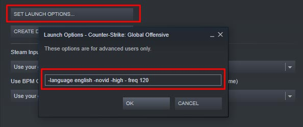 CSGO Launch Commands for High FPS
