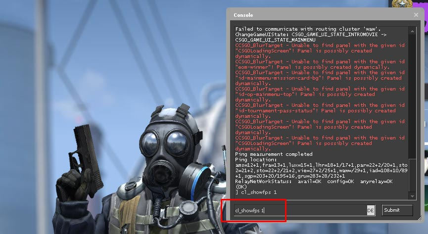 Enter FPS Command for CS GO