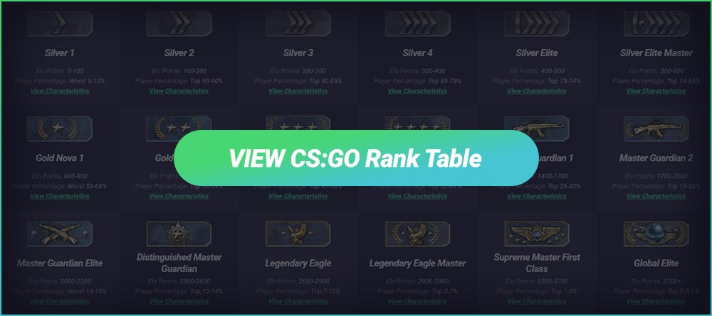 View CS:GO Ranks