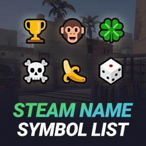 Steam Name Symbol List