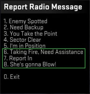New Report Radio Messages