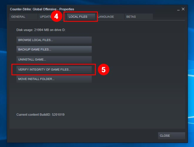 Steam Local File Settings