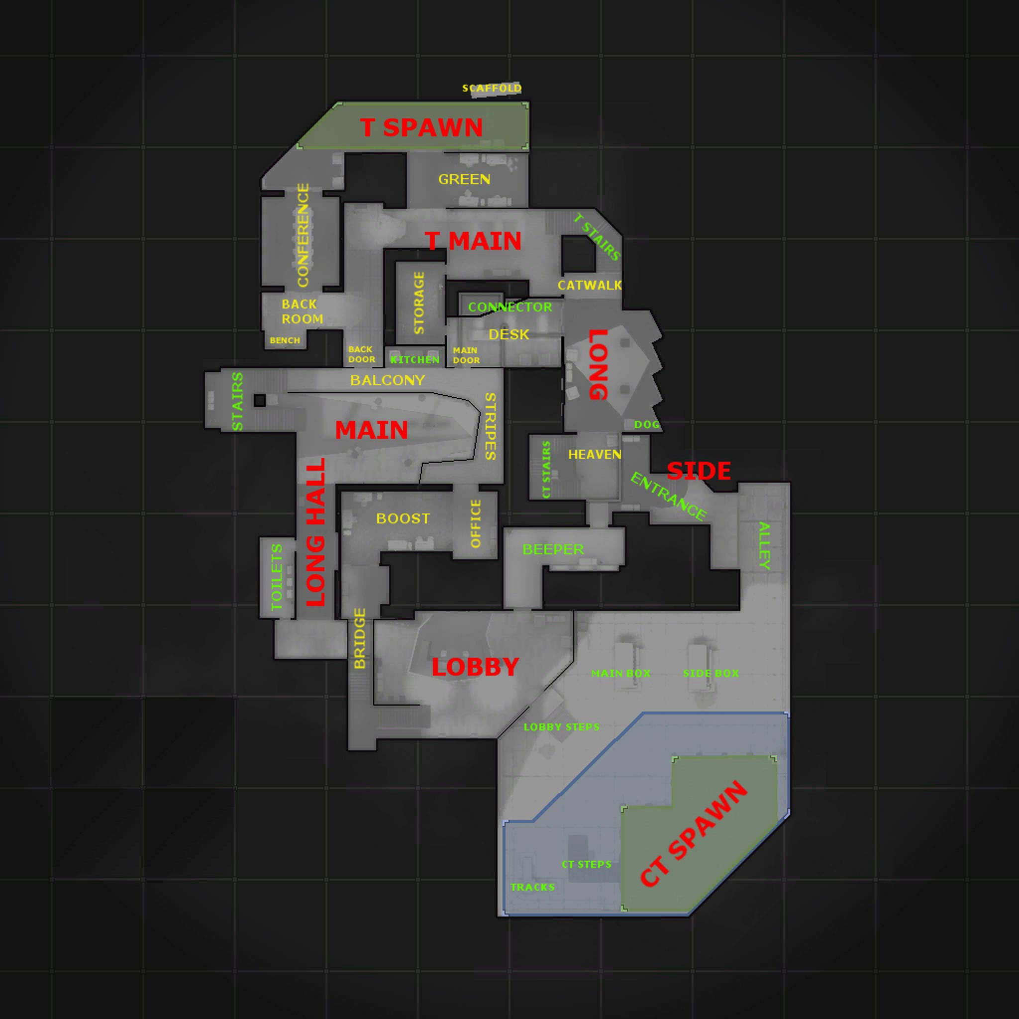 CS:GO Agency Map Callouts