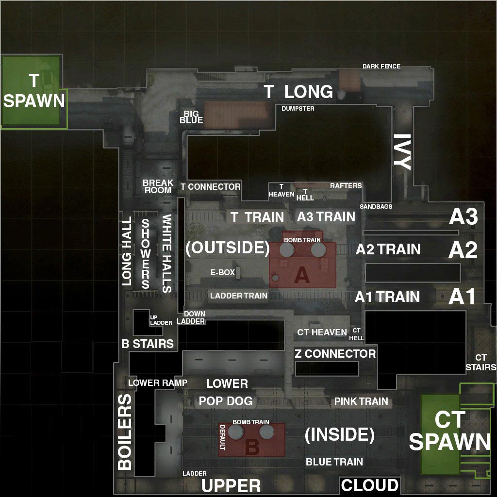 CS:GO Train Map Callouts